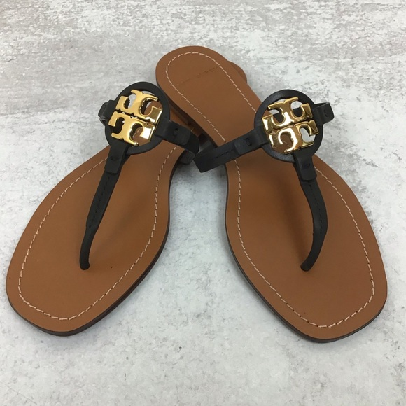 Tory Burch Mini Miller black and gold size 8
